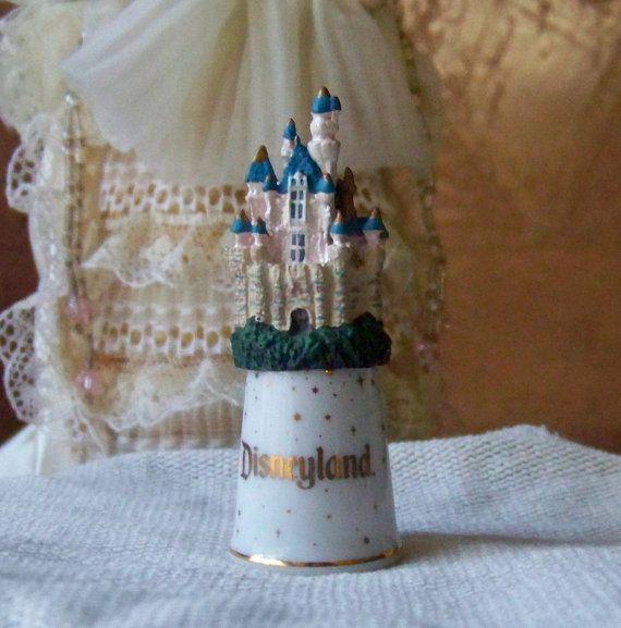 Disneyland Castle Thimble by cynthiasattic on Etsy, $39.00