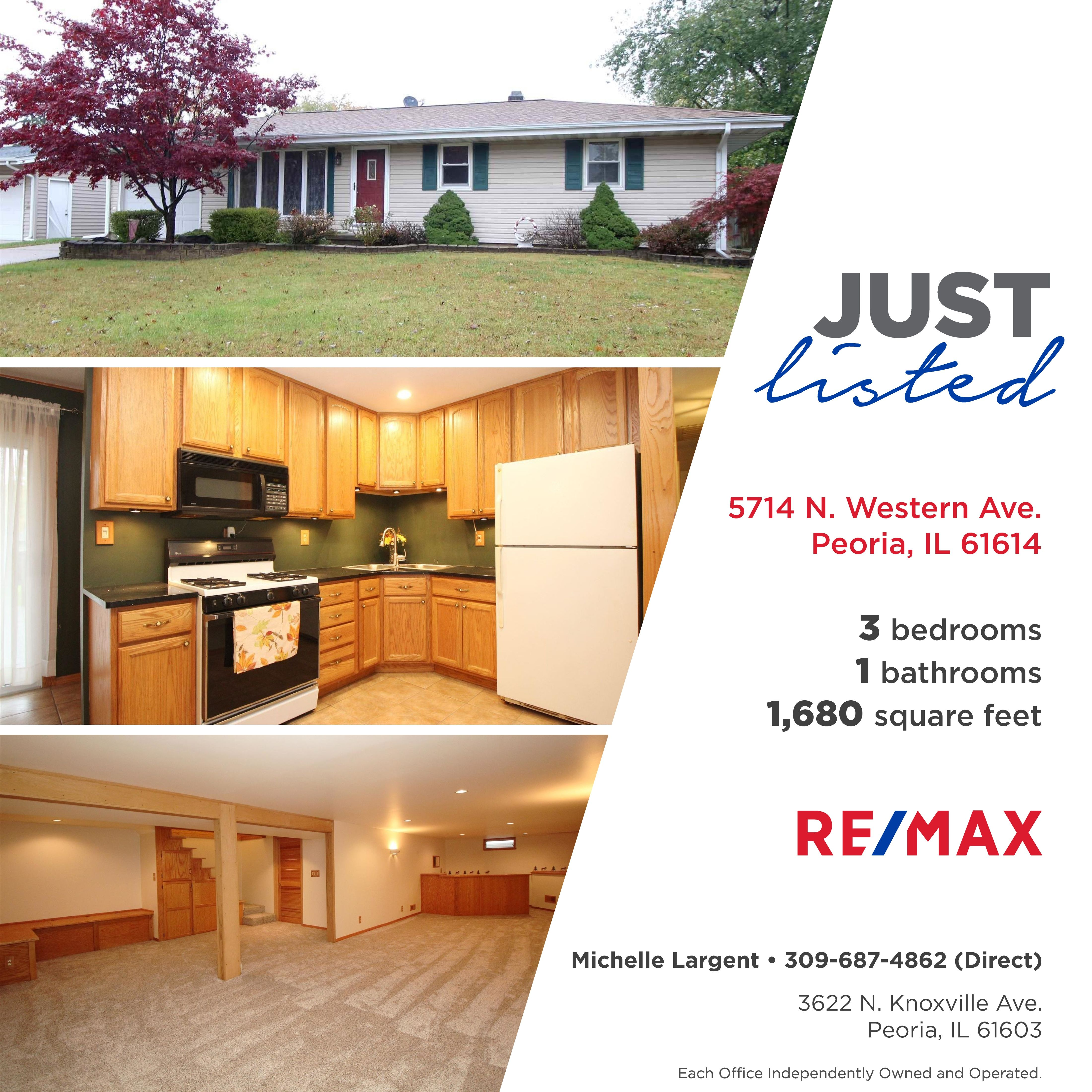 Just Listed 109 900 5714 N Western Ave Peoria Il Pack Your