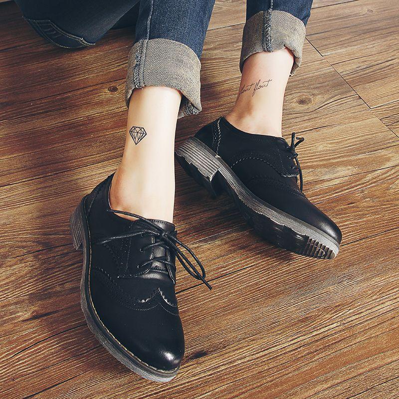 1e7a29dee6 PLANA Sapatos Oxford Brogue Oxford Mulheres Sapatos Flats 2016 Moda Mulher  Outono mocassins sapatos femininos sapatilhas zapatos mujer em Apartamentos  das ...