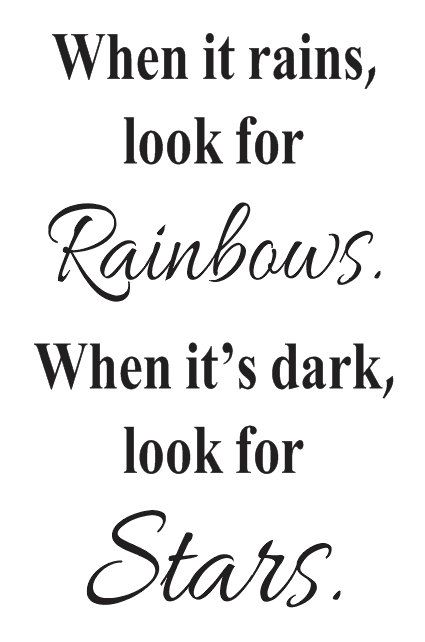 Primitive Inspirational STENCIL When it rains by OaklandStencil