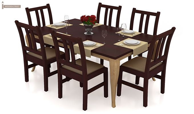 Bronte 6 Seater Dining Table Set DimensionsInch 65 L X 35