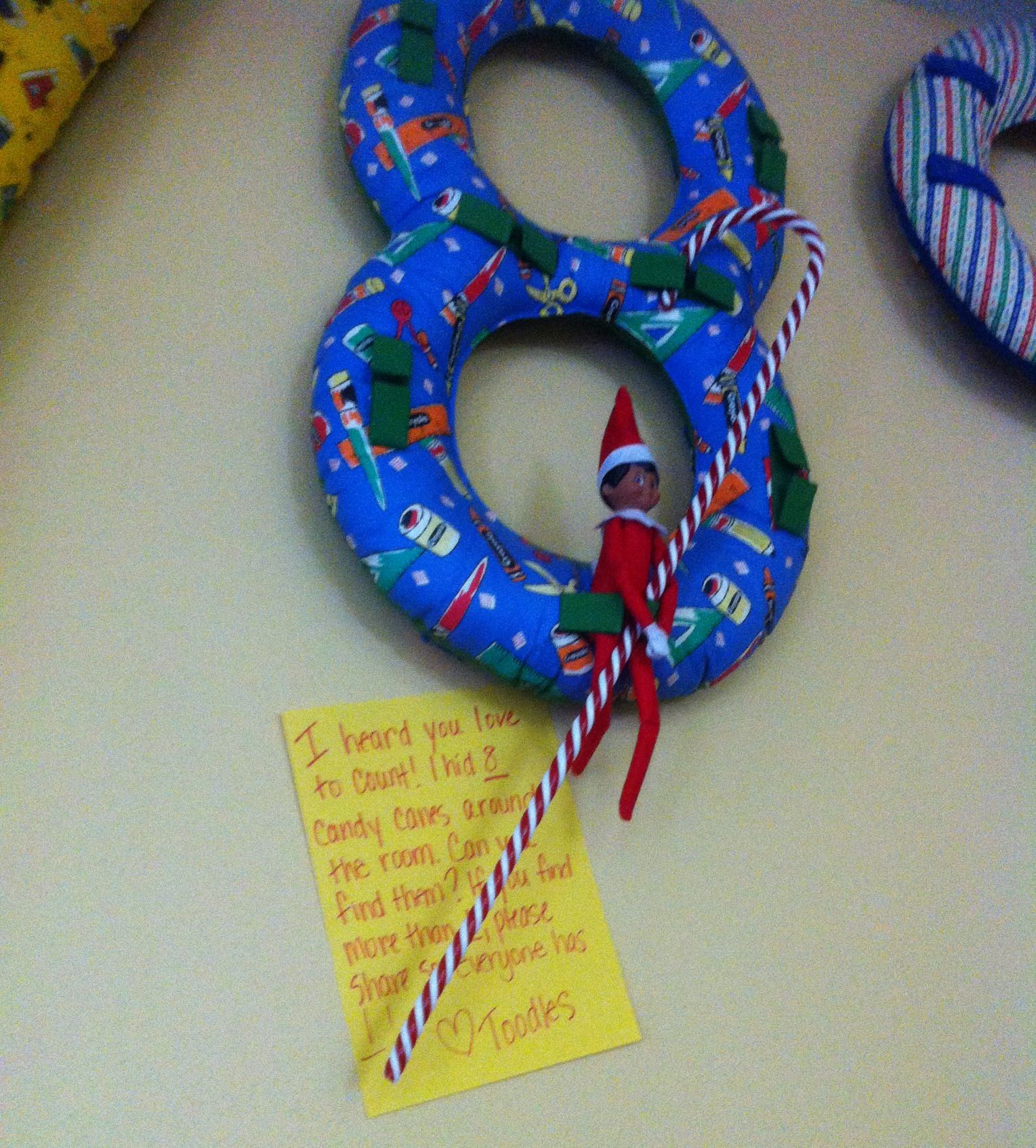Elf On The Shelf The Number 8 Find 8 Candy Canes Hidden
