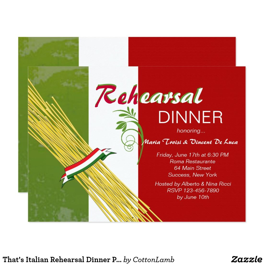 That\'s Italian Rehearsal Dinner Party Invitation | Dinner party ...