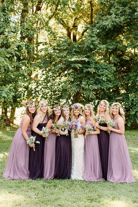 a428527dbb76 dusty purple and deep plum bridesmaid dresses