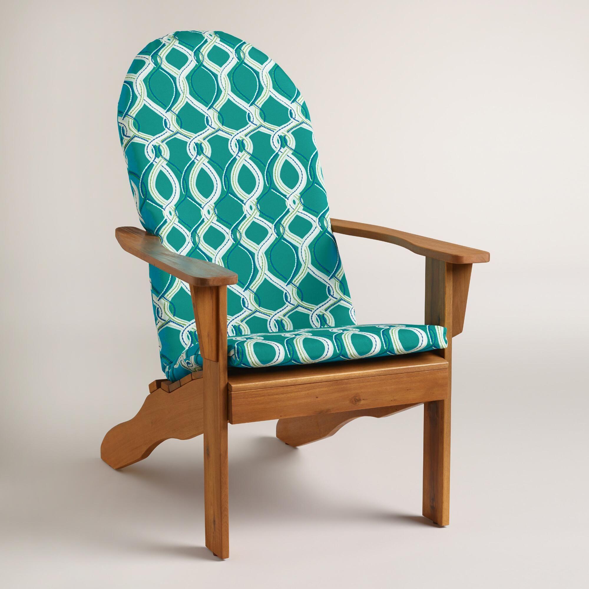 Blue ventura adirondack chair cushion adirondack chair