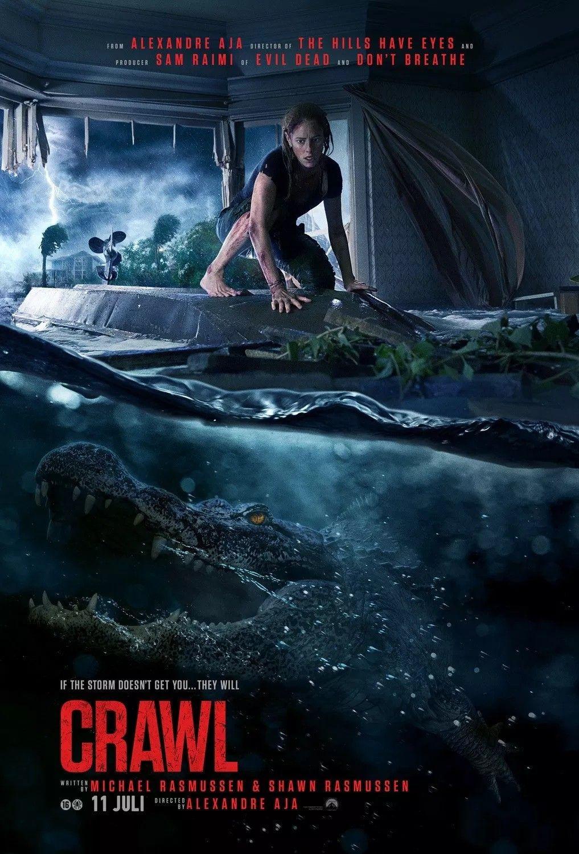 Crawl Poster Film Horor Kaya Scodelario Horor