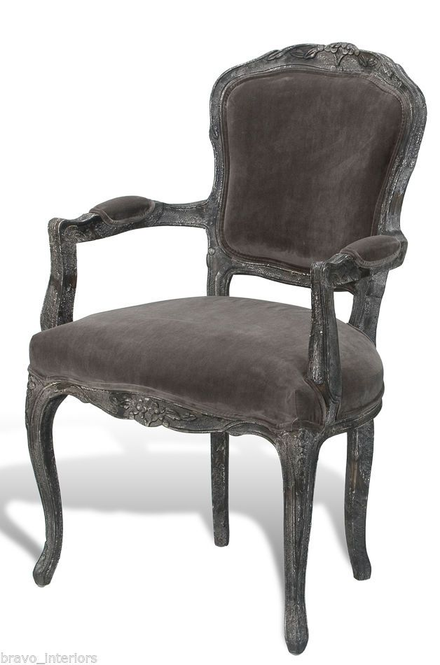 french velvet chair hanging ezibuy grey washed antique finish handmade new free shipping we ha