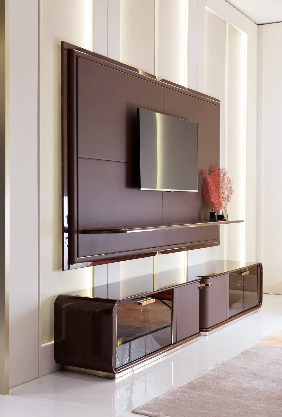 Pin by shivika dua on wardrobes & tv units | Modern tv ...