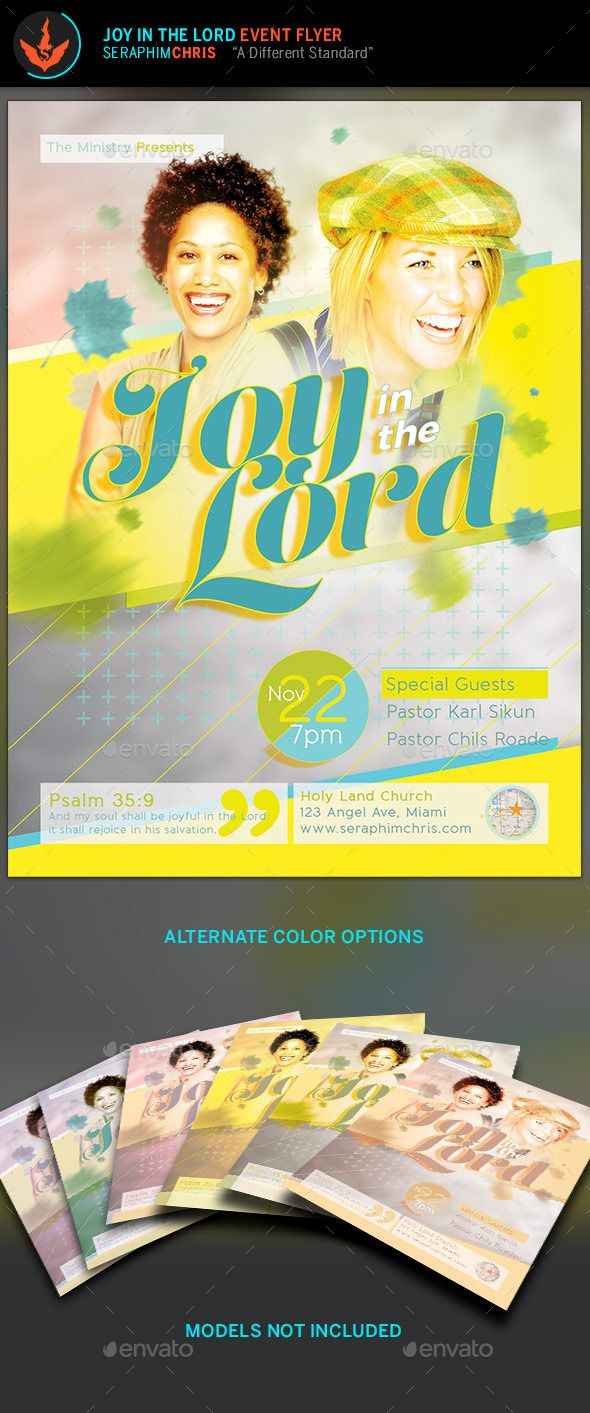 Joy In The Lord Church Flyer Template  Church Flyers  Print