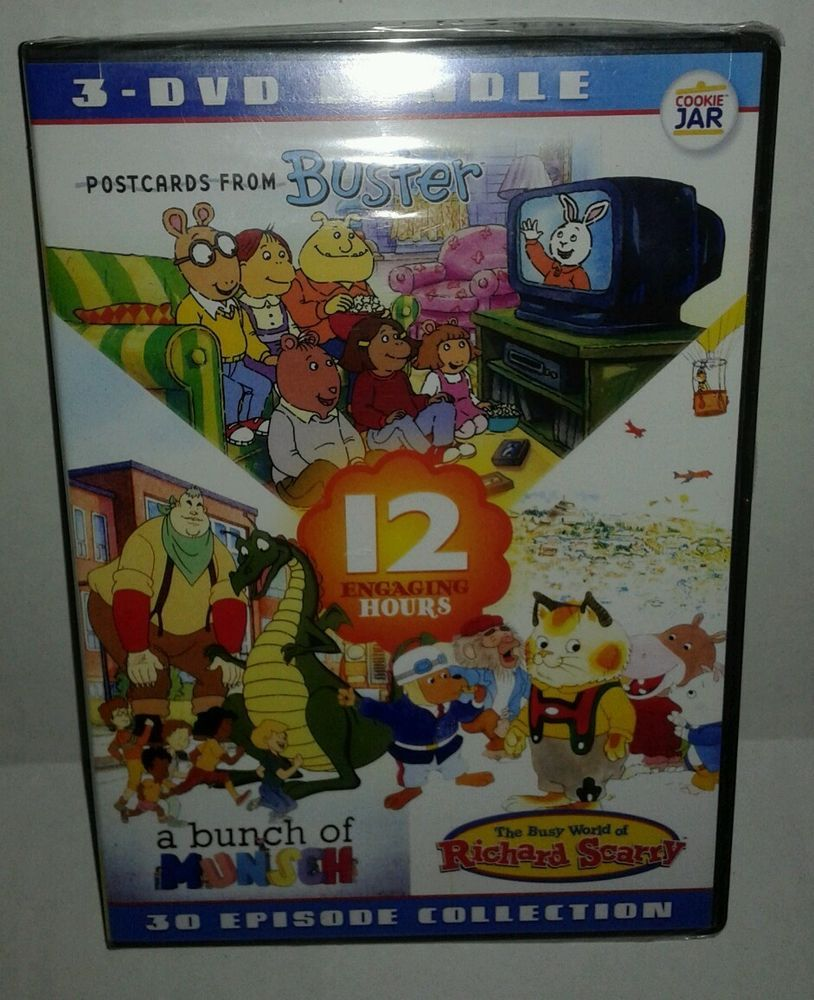 Edutainment 3 DVD Bundle Richard Scarry Bunch Of Munsch