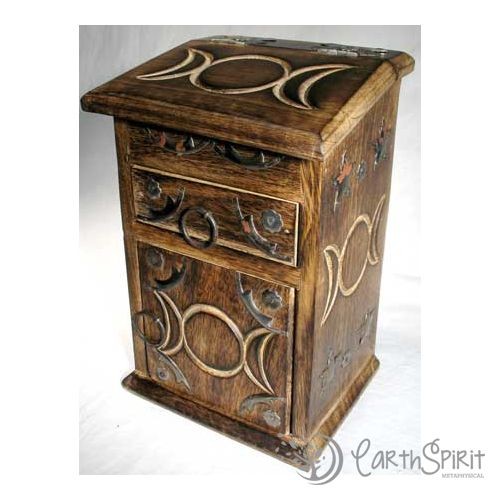 Triple Moon Cupboard Starting At 12 On Tophatter Com Book Of Shadows Herb Boxes Triple Moon