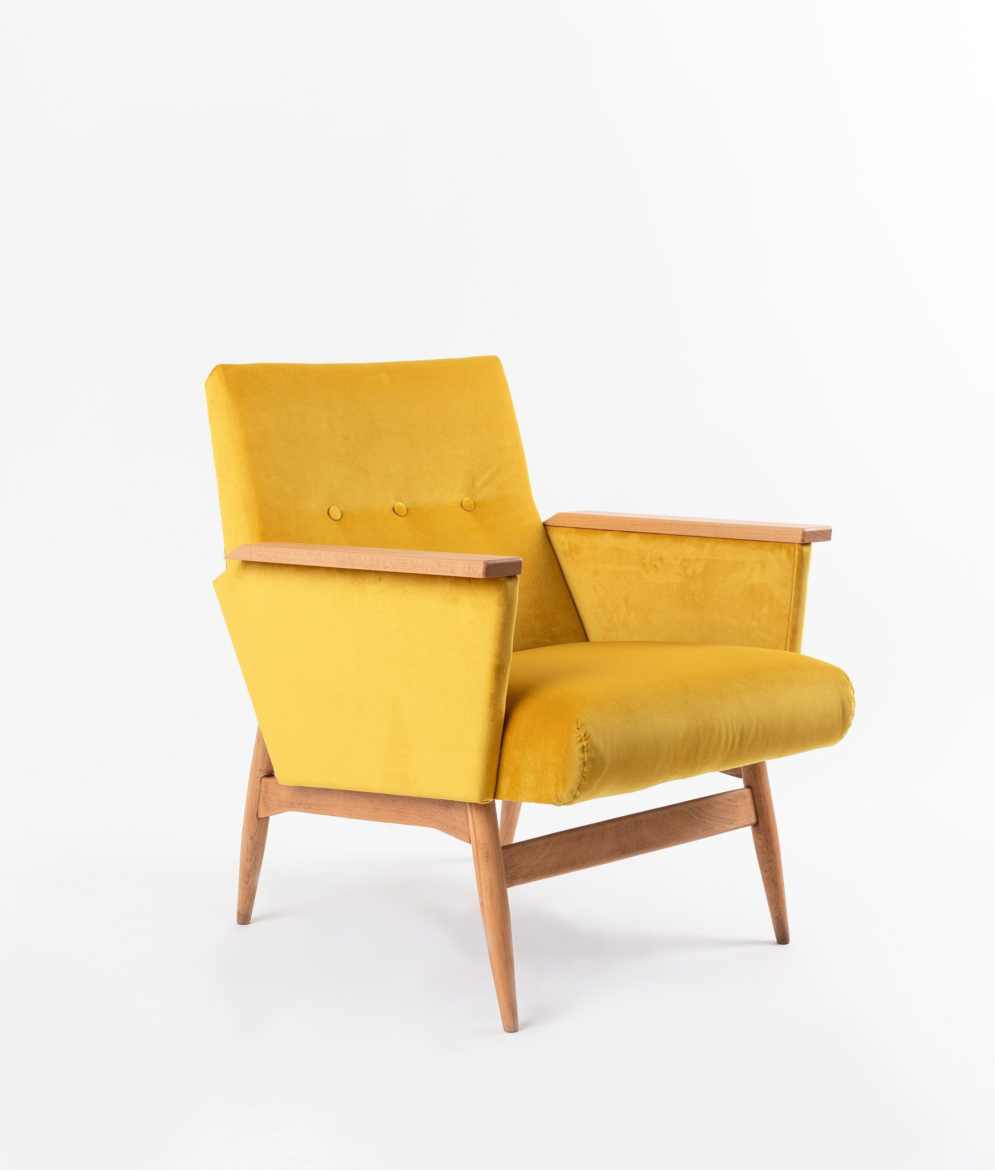 Fantastic Reloved Armchair Royal Yellow Vintage Chair Accent Machost Co Dining Chair Design Ideas Machostcouk