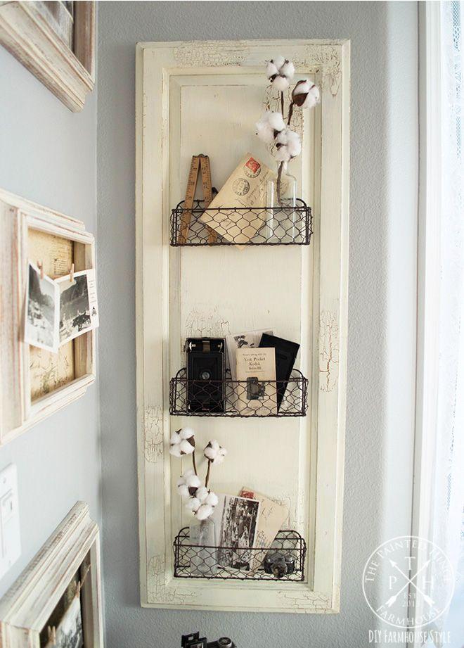 Photo of DIY Farmhouse Style Chicken Wire Basket Shelf