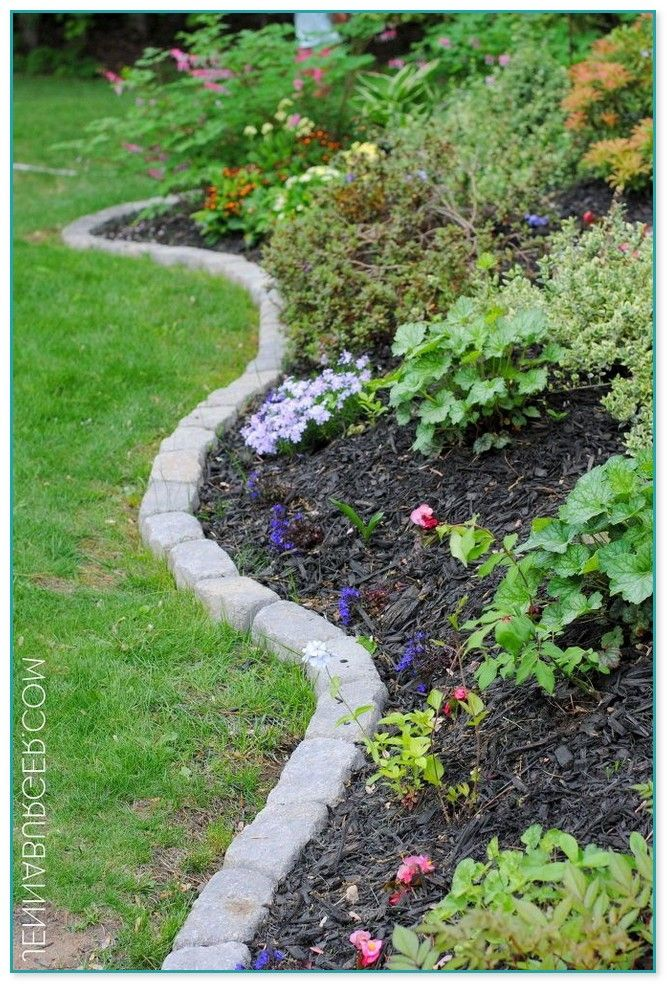 Curved Garden Edging Stones Garden edging, Garden edging