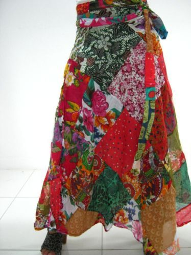 Wikkel rok Patchwork Gypsy staylemaat 36 t/m 42