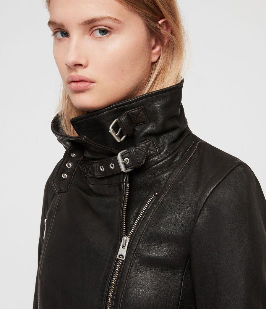 ABSY Ladies Womens Sheepskin Real Leather Biker Jacket Designer Look