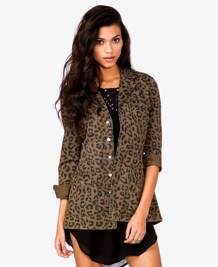 1586d41e3089 Leopard Print Utility Jacket | Bang For Your Buck Fashion | Fashion ...