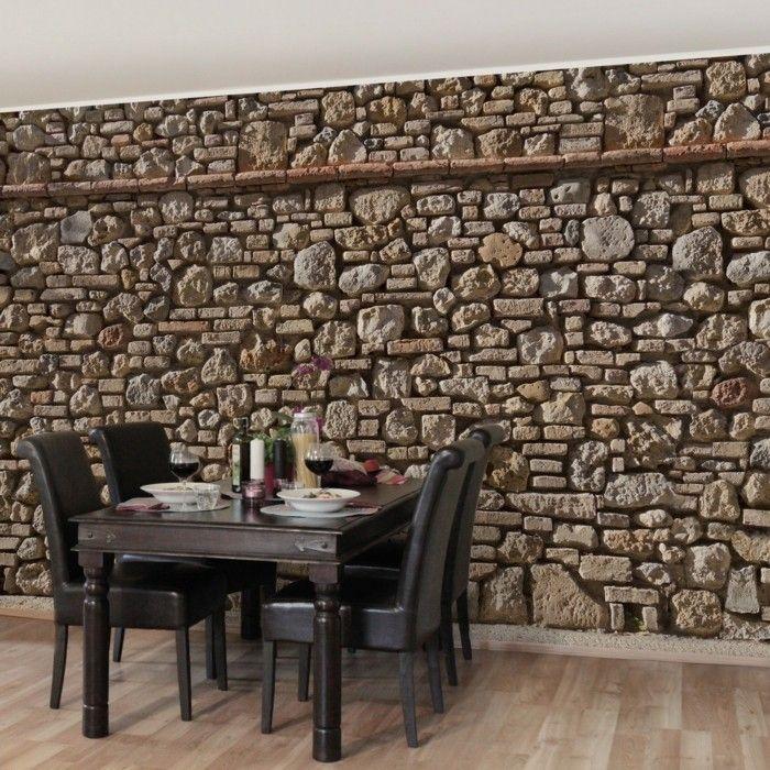 steine motiv als kücheneinrichtung-wandgestaltung Wandgestaltung - wand gestalten mit steinen
