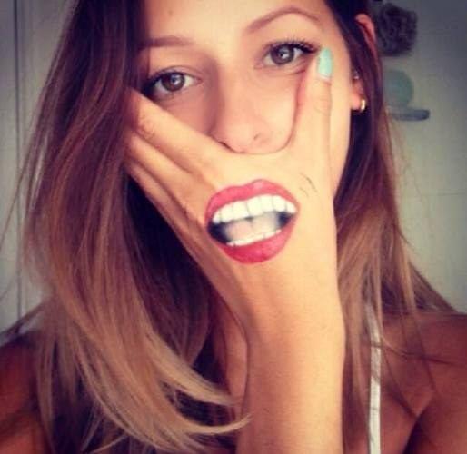Yüz Boyama örnekleri Korkunç Googleda Ara Güzel Sanat Lip Art