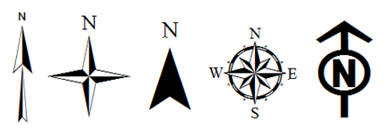 Map Legend Symbols Image Of A Various North Arrow Options Content Is Also Available In