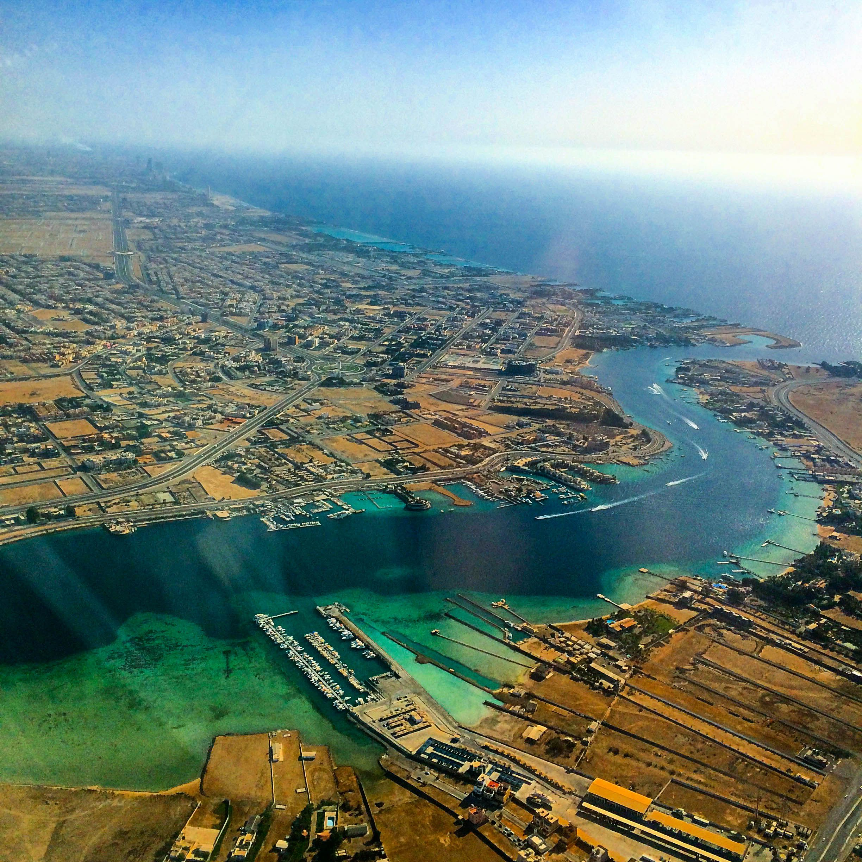 North Abhur Red Sea Jeddah أبحر الشمالية البحر الأحمر جدة Saudi Arabia Airplane View Jeddah