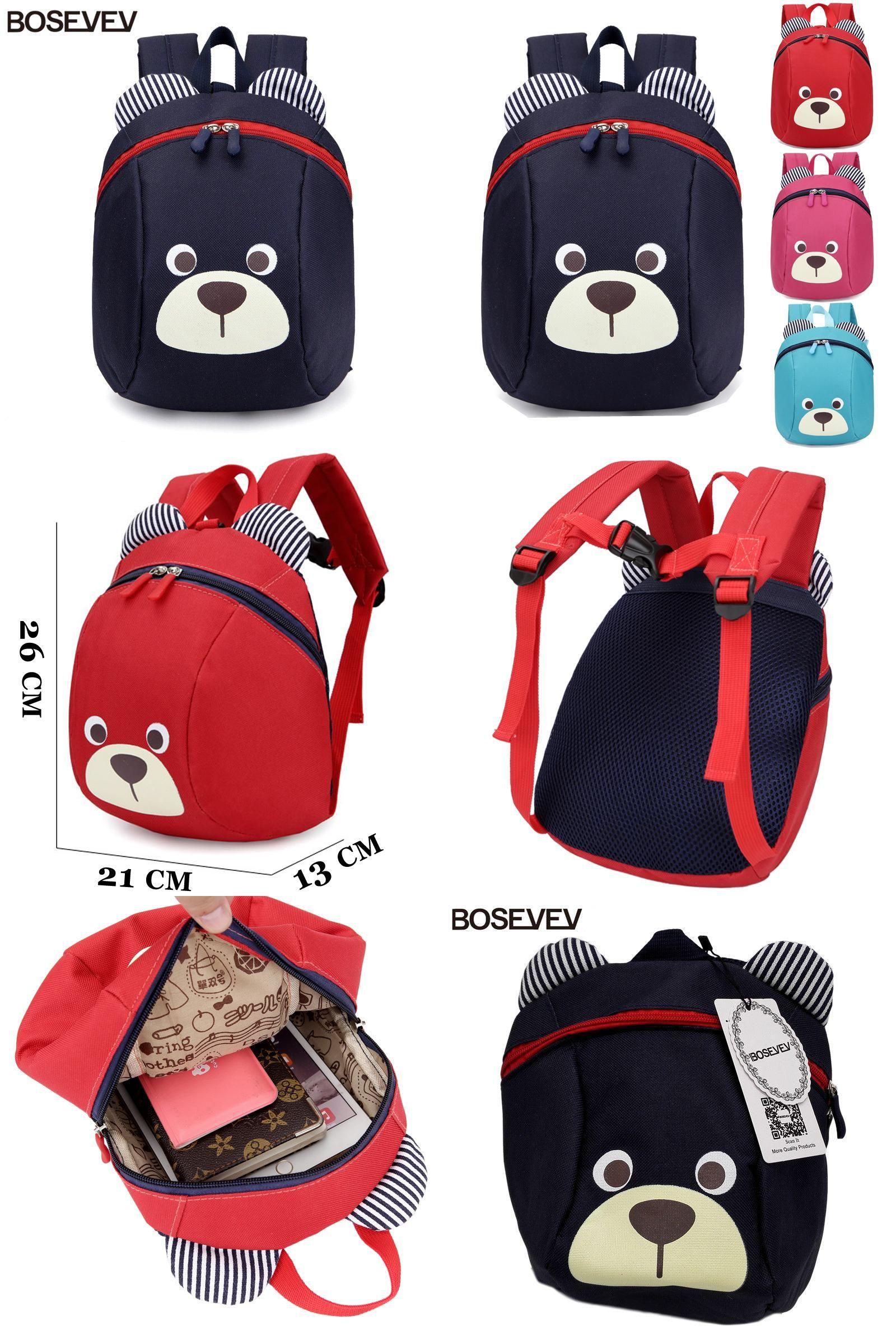 Visit to Buy  Aged 1-3 Nylon Toddler Backpacks Anti Lost Design Mini ... 69368ba7cafc5