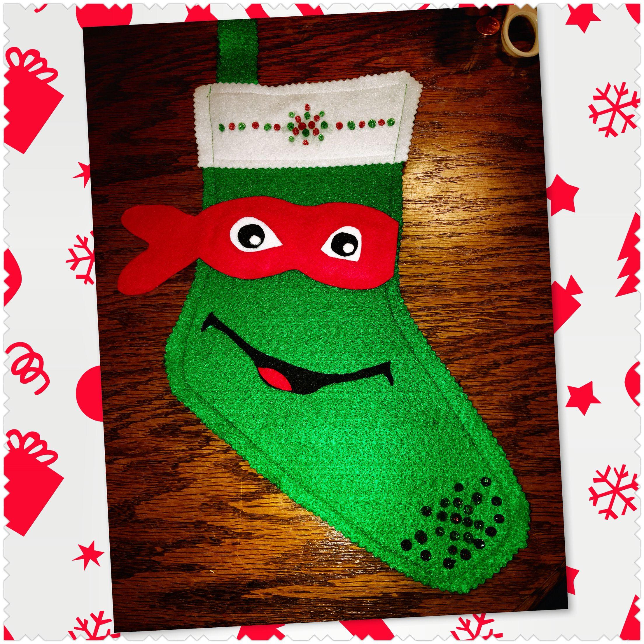 Teenage Mutant Ninja Turtle Raphael stocking | Christmas | Pinterest