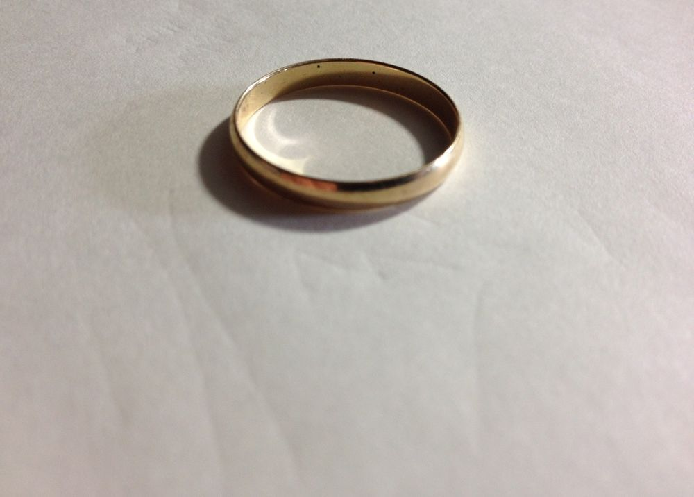 10k Yellow Gold Ring Wedding Band Smooth Small Thin Size 9 75 Rmi Gold Band Wedding Ring Yellow Gold Rings Wedding Bands