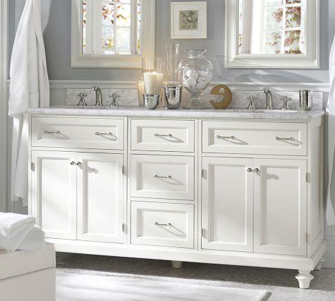Pretty White Bathroom Bathroom Decor Pottery Barn Bathroom Bathroom Design
