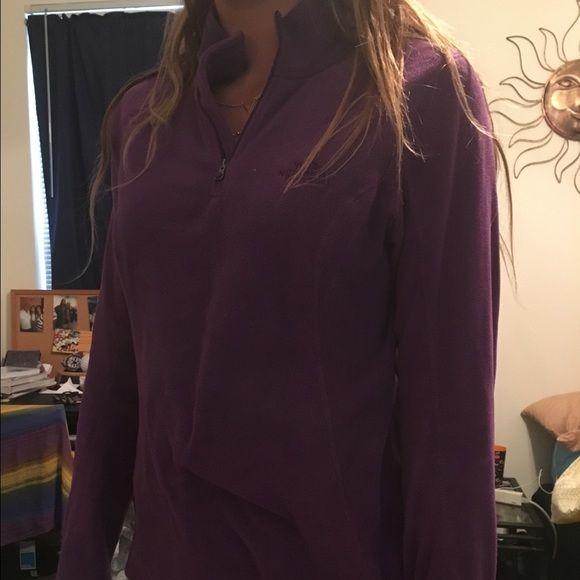 North face half zip pullover Purple cozy north face pullover North Face Sweaters V-Necks