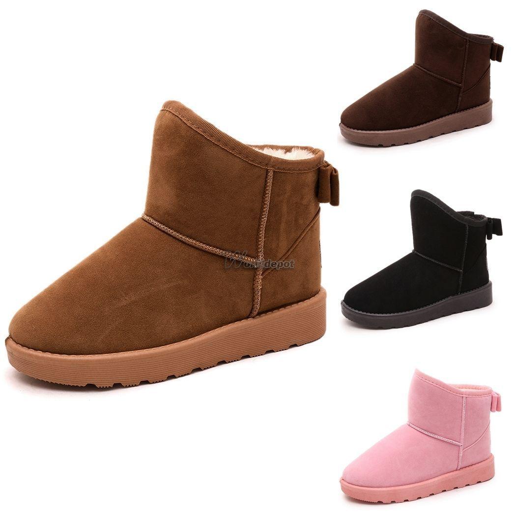prezzo più basso e4444 c76a0 A Neve Stivali Con Pelo Ankle Boots Stivaletti Invernali ...
