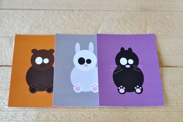 Värikkäät eläinkortit <3