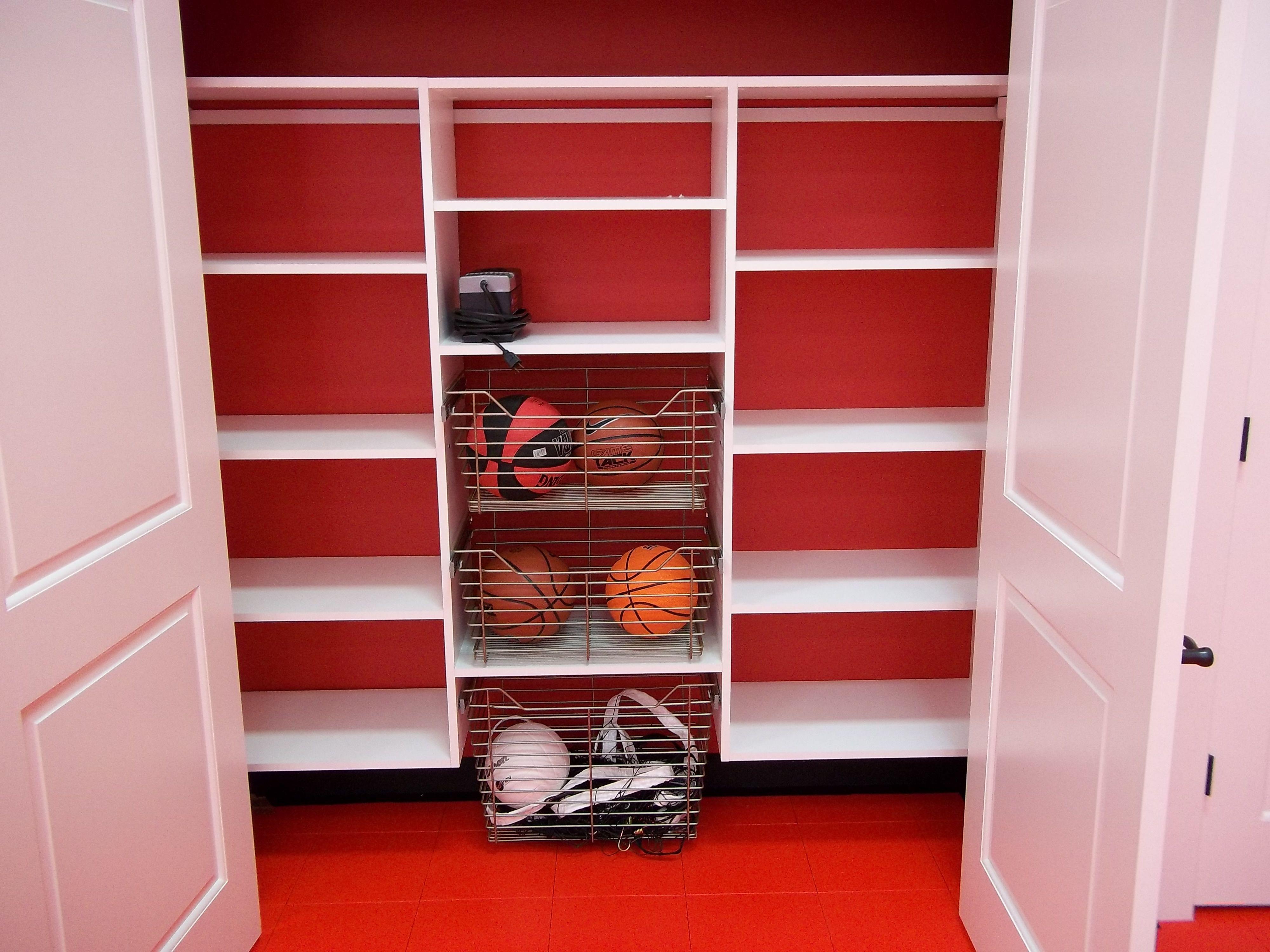Indoor game court, closet storage The Vande Hey Company, Inc.