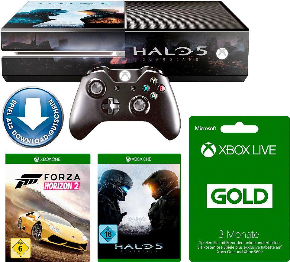 Xbox One 500gb Forza Horizon 2 Halo 5 3 Monate Xbox Live Konsolen Set Konsole