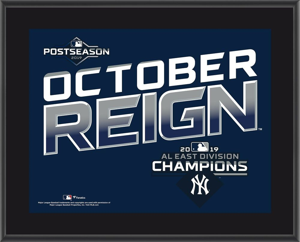 New York Yankees 10 5 X 13 2019 Al East Division Champions Sublimated Plaque Newyorkyankees Mlbteamplaquesandcollages New York Yankees Yankees York