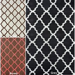 @Overstock - Invoke the feel and warmth of a country home with this stunning woolen hand-hooked rug.  Meticulously made using a petit point stitches construction, make your favorite space feel right at home with this beautiful grey rug.http://www.overstock.com/Home-Garden/Hand-hooked-Alexa-Mod-Trellis-Rug-36-x-56/5777731/product.html?CID=214117 $76.99