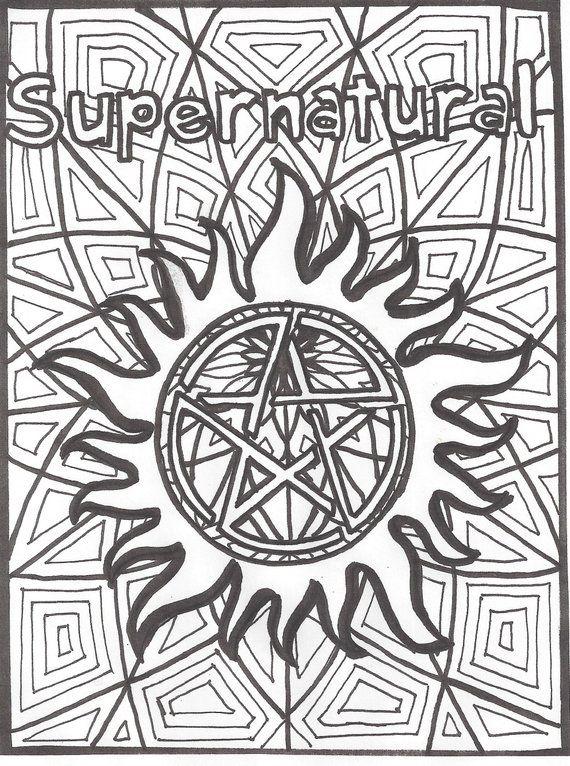Supernatural Anti Possession Coloring Page Supernatural