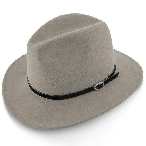 Legacy - Walrus Hats Grey Wool Felt Fedora Hat - H7002 #fedoras