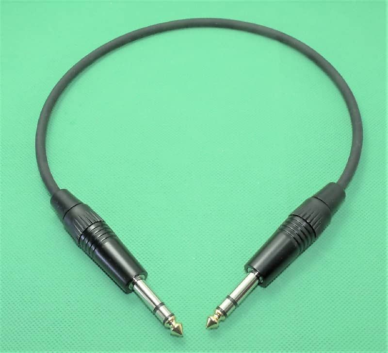 Premium Patch Cable With 1 4 Inch Trs Stereo Plugs18 Inches Long Flexible Pvc Jacket Shielded To Prevent Noise And Inter Patch Cord Guitar Accessories Stereo