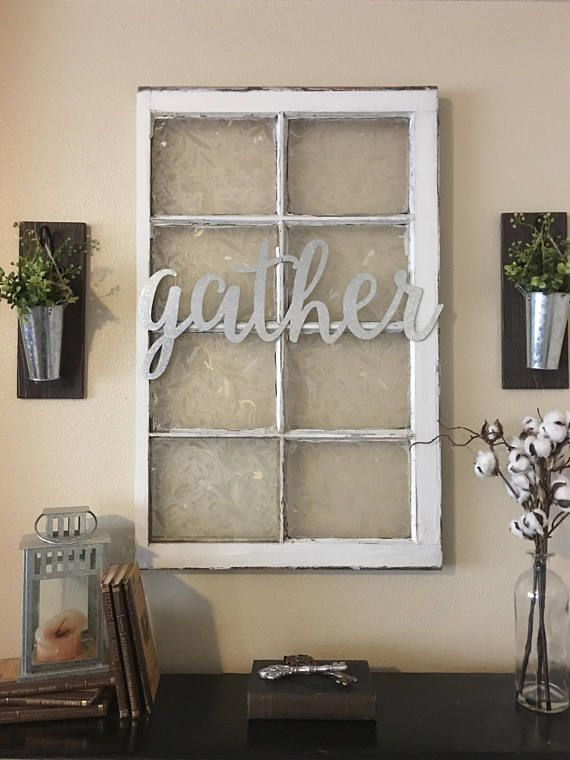Metal Gather Sign Gallery Wall Decor Gather Home Decor Farmhouse Wall Decor Gather Signs