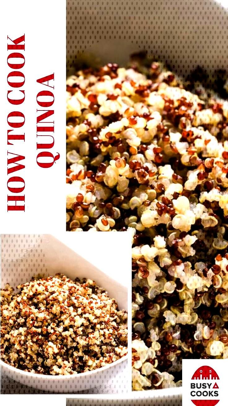 How to Cook Perfect Quinoa - Busy Cooks Let's learn how to cook perfect quinoa on stovetop in les