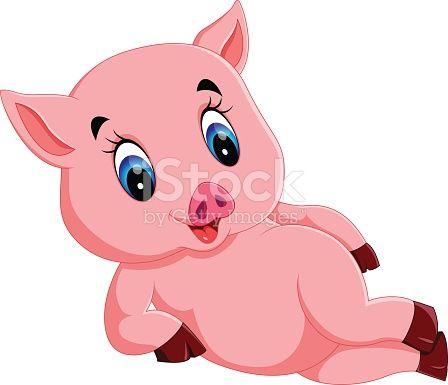 Illustration Of Cute Baby Pig Cartoon Baby Pigs Cute Baby Pigs