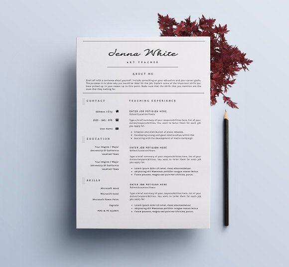 Professional Resume / Elegant CV-7 Professional resume, Cv cover