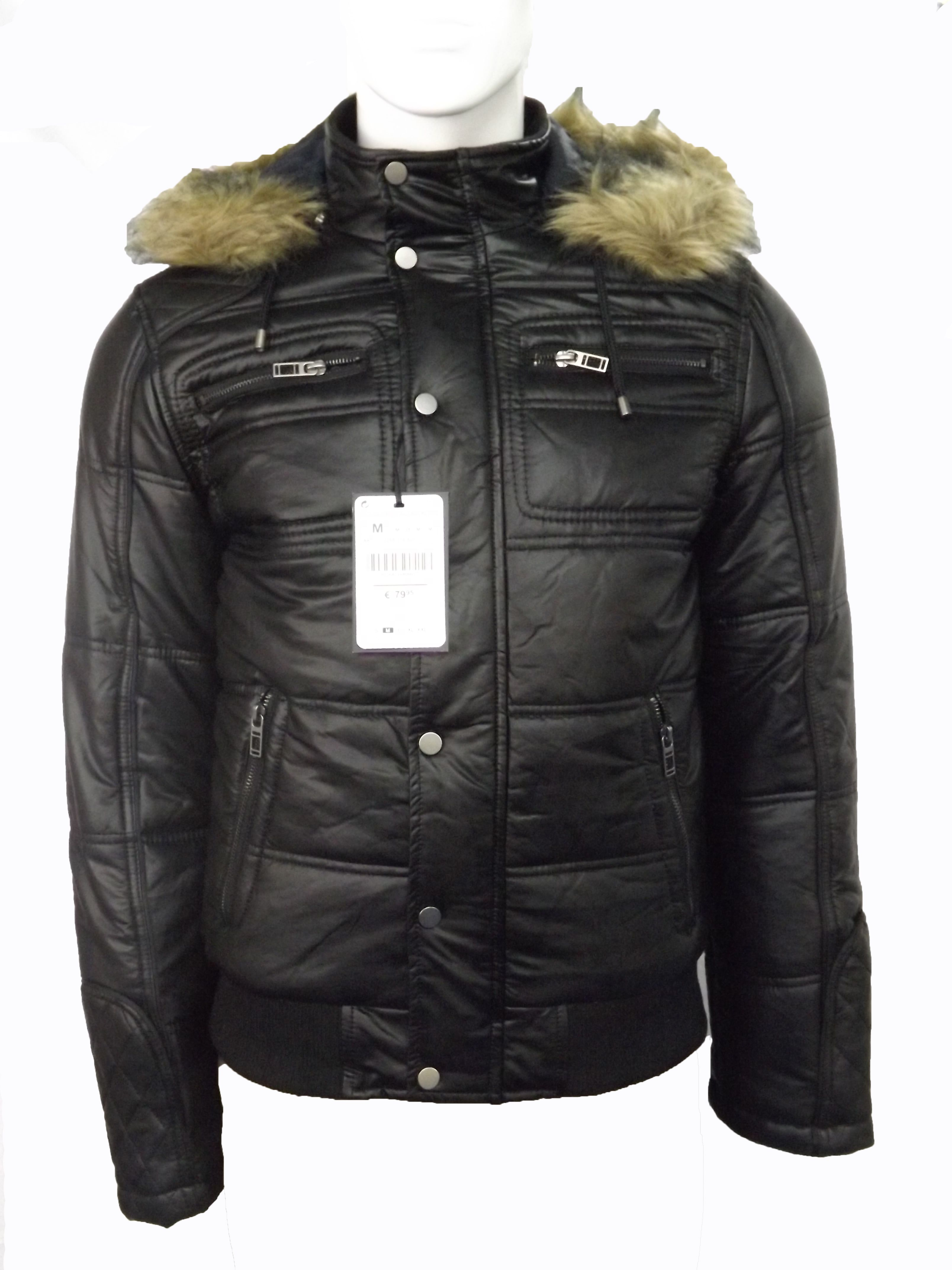 Zara Mens Faux Leather Puffer Jacket . You can purchase it