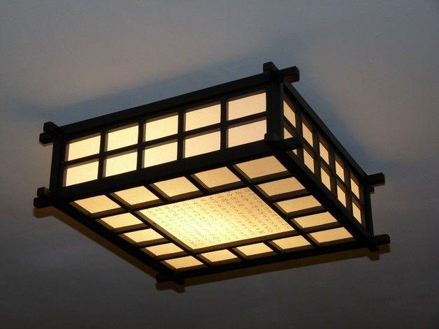 Plafonniers, Plafonnier japonais bois papier Ido est une création ...