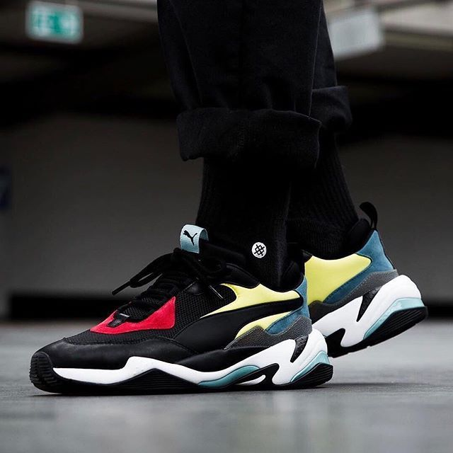 #hypebeastkicks: PUMA pays homage to late designer Alexander McQueen with  the all-new PUMA Thunder Spectra. The kicks take inspiration from his col…