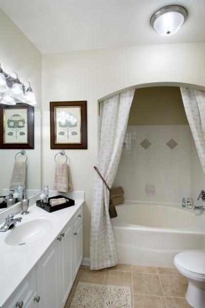 Bathroom...hidden Shower Curtain Rod