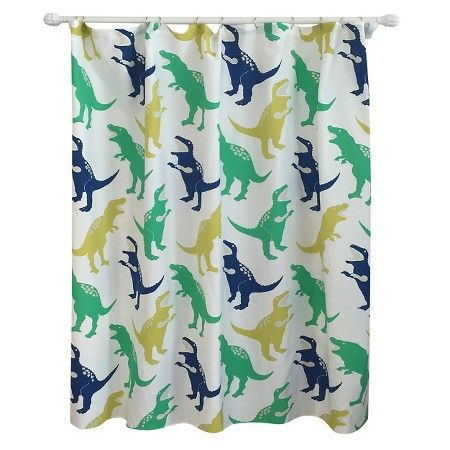 Dinosaur Shower Curtain Green - Pillowfort™ : Target | Apartment ...
