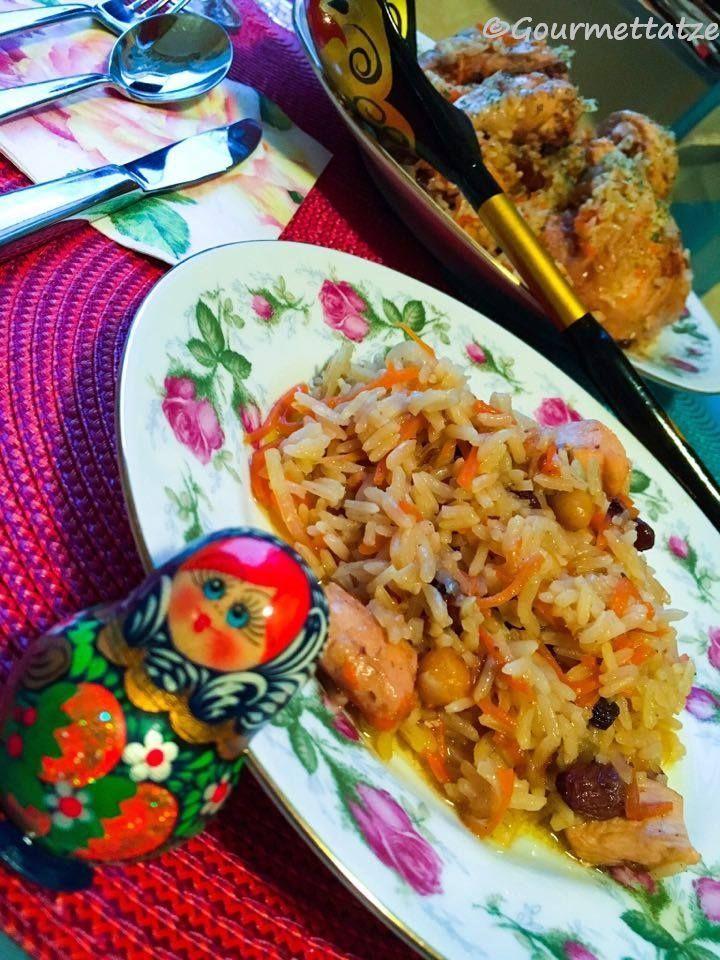 Gourmettatze: ~Plov mit Hühnchen~ ein usbekisches Gericht aus meiner Kindheit