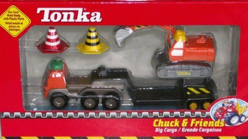 Tonka Chuck & Friends Big Cargo Playset by Maisto. $12.99. Includes 5 parts. Die-Cast Metal Body with Plastic Parts. 1 set. Build your crew with Chuck and his hard working friends! Die cast metal body with Plastic Parts.